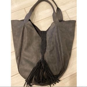 DV by Dolce Vita Bags - Faux Leather Tote with Suede Tassel